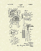 Photography Drawings Metal Prints - Tripod 1940 Patent Art Metal Print by Prior Art Design