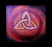 Jessie Art Prints - Triquetra Print by Jessie Art