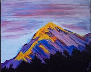 Himalayas Paintings - Trishul peak in the Western Himalayas by Iris Devadason
