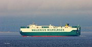 Wallenius Wilhelmsen Prints - Tristan Cargo Ship Print by Tap On Photo