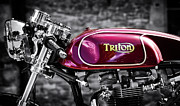 Engine. Bike Prints - Triton Print by Tim Gainey