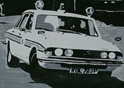 Cop Paintings - Triumph 2500 TC Cop Car by Sid Fox