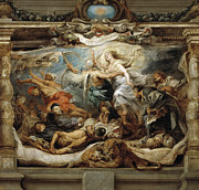 Famous Artists - Triumph of the Catholic truth by Peter Paul Rubens
