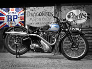 Motor Metal Prints - Triumph Tiger 80 1939 Metal Print by Mark Rogan