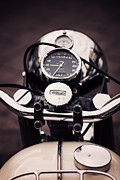 Biking Framed Prints - Triumph Tiger 90 Framed Print by Tim Gainey