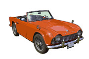 Small Convertible Posters - Triumph TR4 - British - Sports Car Poster by Keith Webber Jr