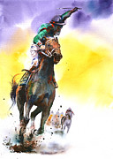 Jockey Paintings - Triumphant by Peter Williams