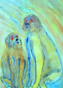 Sweating Painting Originals - Troll and son by Hilde Widerberg