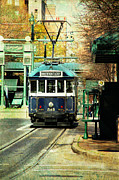 Memphis Tn Prints - Trolley Stop Memphis Print by Suzanne Barber