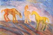 Subsequent Paintings - Trolls Horse Triangle by Hilde Widerberg