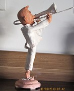 Jazz Sculpture Originals - Trombone by Victor Berelovich