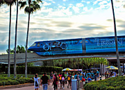 Tron Photos - Tron Monorail At Walt Disney World by Thomas Woolworth