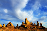 Dry Lake Photo Posters - Trona Pinnacles California Poster by Bob Christopher