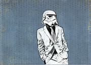 Star Wars Mixed Media Prints - Trooper 1 Print by Jason Tricktop Matthews