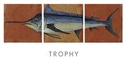 Fishing Ceramics Metal Prints - Trophy Metal Print by Andrew Drozdowicz