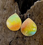 Watercolor  Jewelry - Tropic Noon by Sandra Schultz