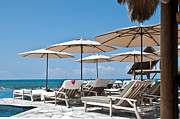 Tropical Beach Luxury Paradise  Print by Valerie Garner