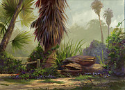 California Painting Posters - Tropical Blend Poster by Michael Humphries