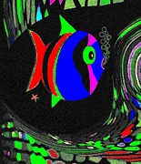 Tropical Fish Digital Art - Tropical Cave Fish 1 by Will Borden