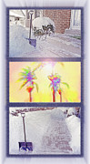 Winter Travel Mixed Media Posters - Tropical Dreaming Triptych Poster by Steve Ohlsen