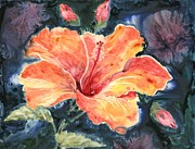 Tropic Paintings - Tropical Explosion by Marsha Elliott