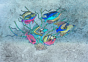 Tropical Fish Digital Art Prints - Tropical Fish 1 Print by Betty LaRue