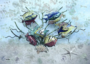 Metal Art Digital Art - Tropical Fish 2 by Betty LaRue