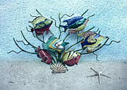 Metal Art Digital Art - Tropical Fish 3 by Betty LaRue