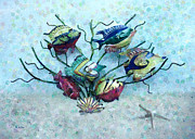 Tropical Fish Digital Art Prints - Tropical Fish 4 Print by Betty LaRue