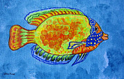 Betta Prints - Tropical Fish Original Painting Print by Ella Kaye