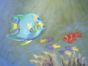 Snorkeling Painting Originals - Tropical Fish by Patricia Kimsey Bollinger