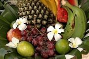 Tropical Fruit Basket Print by Cole Black