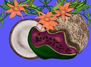 Tropical Fruit Print by Christine Fournier