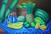 Table Cloth Paintings - Tropical Fruits by Gani Banacia