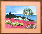 Original  By Artist Paintings - Tropical Gardens by Ron Davidson