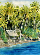 Melly Terpening Paintings - Tropical Island  by Melly Terpening