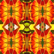 Tropical Leaf Pattern 4 Print by Amy Vangsgard