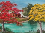 Puerto Rico Paintings - Tropical Lifestyle by Luis F Rodriguez