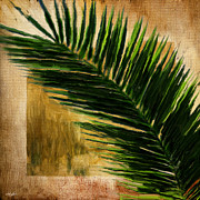 Wealth Digital Art Prints - Tropical Palm Print by Lourry Legarde