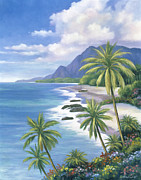 Pallet Knife Paintings - Tropical Paradise 2 by John Zaccheo