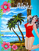 Sheena Prints - Tropical Pinup Girl Print by Sheena Bolken