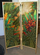 Dividers Prints - Tropical Screen Print by Rick  kealoha Pa