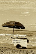York Beach Originals - Tropical Sherbet Cart in Sepia by Sandra Pena de Ortiz