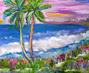 Patricia Taylor Framed Prints - Tropical Sunset 2 Framed Print by Patricia Taylor