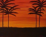 Tropical Sunset Originals - Tropical Sunset I by Krystal Jost