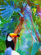 Toucan Digital Art Posters - Tropical Toucan Poster by Kathleen Holley