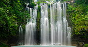 Idyllic Photos - Tropical Waterfall by Oscar Gutierrez
