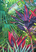 Jungle Pastels Originals - Tropics 2 by Jill Stefani Wagner