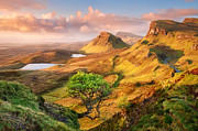 Sunrise Pyrography Posters - Trotternish Poster by Michael Breitung