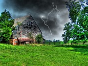 Barn Storm Prints - Trouble Brewing Print by Dan Stone